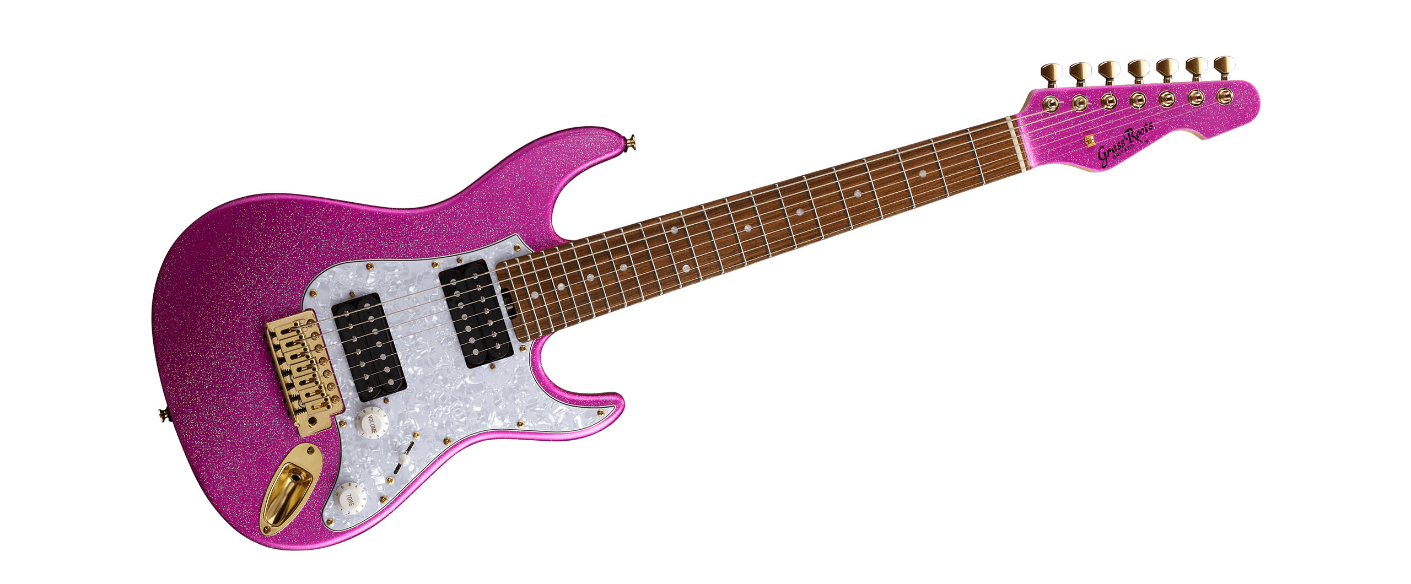 大村孝佳プロデュースによる7弦ミニ・ギターがGrassRootsより発売