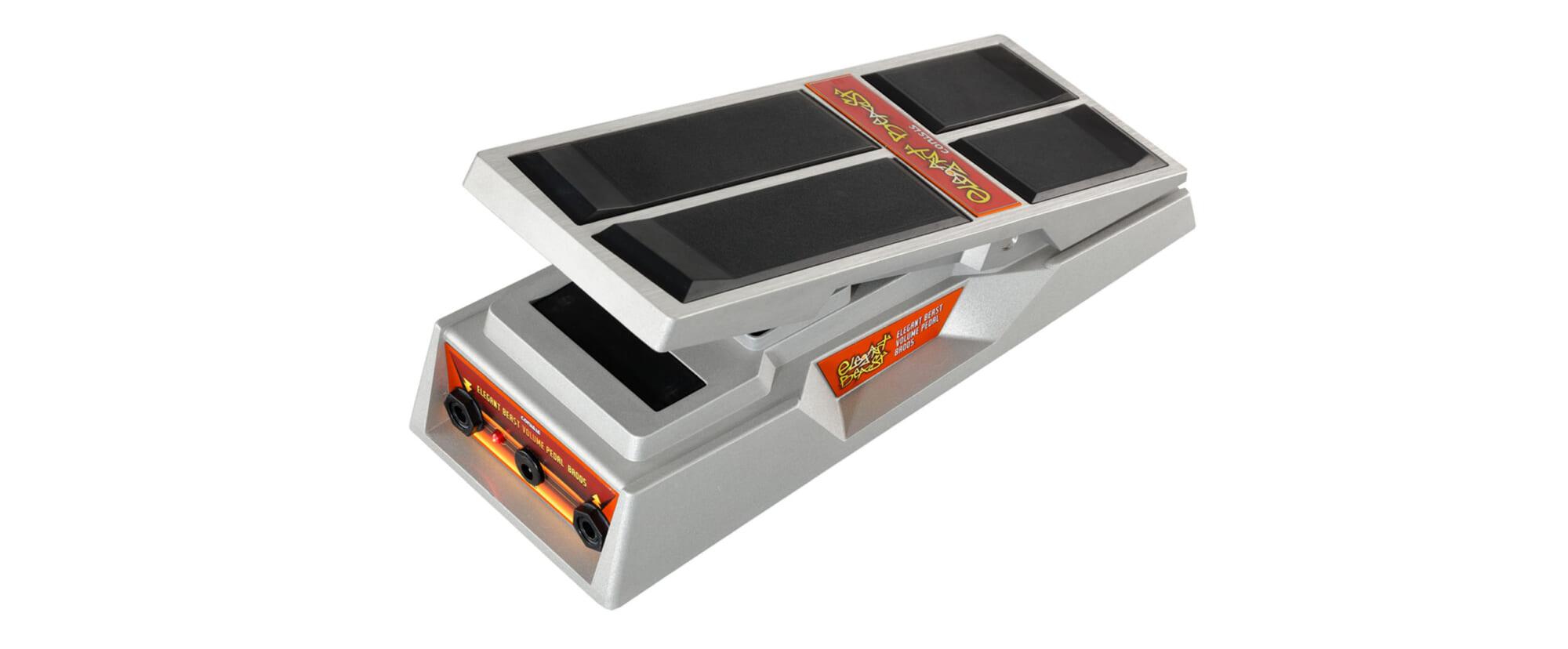 コニシスの高品質バッファー・アンプを内蔵したボリューム・ペダル
