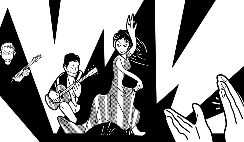 宮脇流セッション・ギタリスト養成塾友人宅でフラメンコ・セッションに挑む!