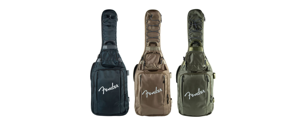 収納⼒と保護性能を兼ね備えたギター用ギグ・バッグがフェンダーより発売
