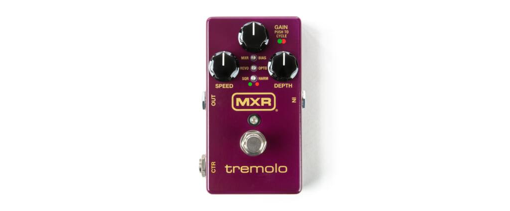6つの波形モードが選べるMXRの最新トレモロ・ペダル