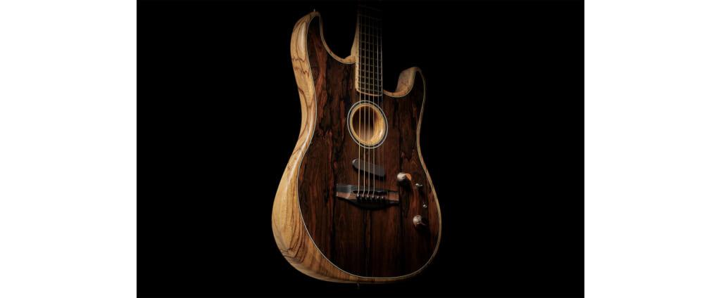 """フェンダーのAmerican Acoustasonic Stratocasterに稀少材""""ジリコテ""""を採用した限定モデルが仲間入り"""