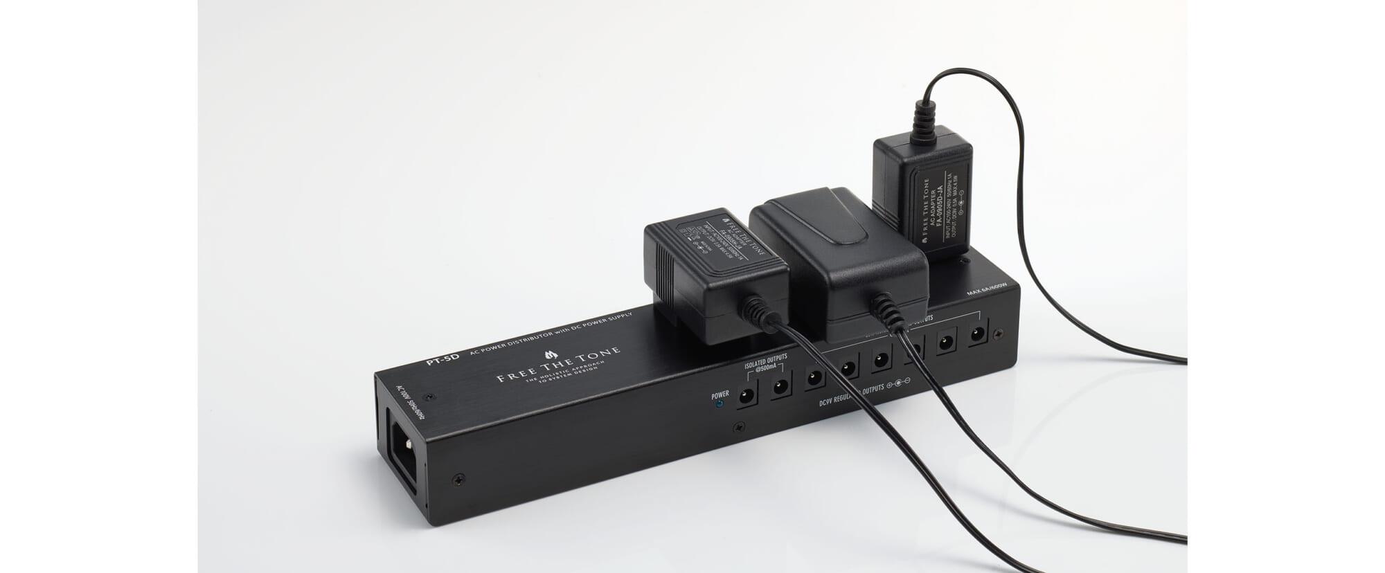 ノイズへの配慮が必要な機器への電源供給のために設計されたフリーザトーンのACアダプター