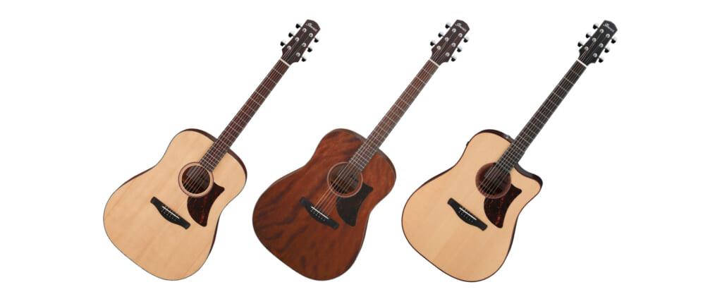 """アイバニーズの新シリーズ""""Advanced Acoustic""""より、ドレッドノートの進化系アコースティック・ギターが登場"""
