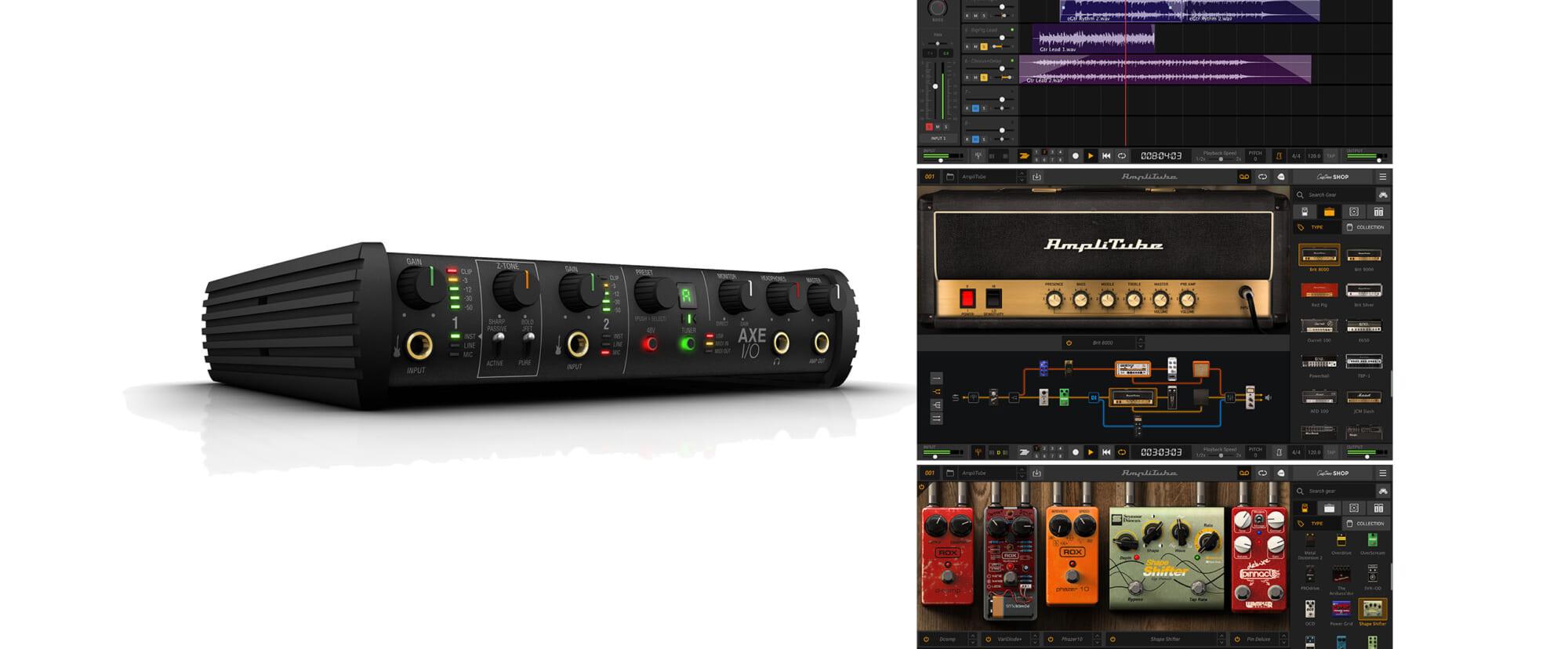 ギタリストに嬉しいバンドル製品IK Multimedia AXE I/O+AmpliTube 5 MAX Bundle