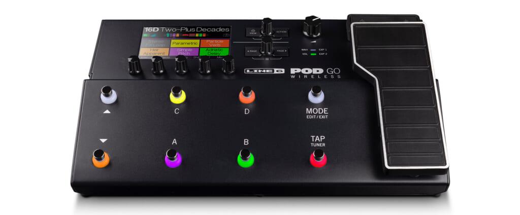 ワイヤレス機能を搭載したLine 6の新製品POD Go Wireless