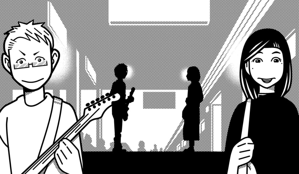 宮脇流セッション・ギタリスト養成塾最終回|遠距離恋愛中の彼女の前でギターを弾く