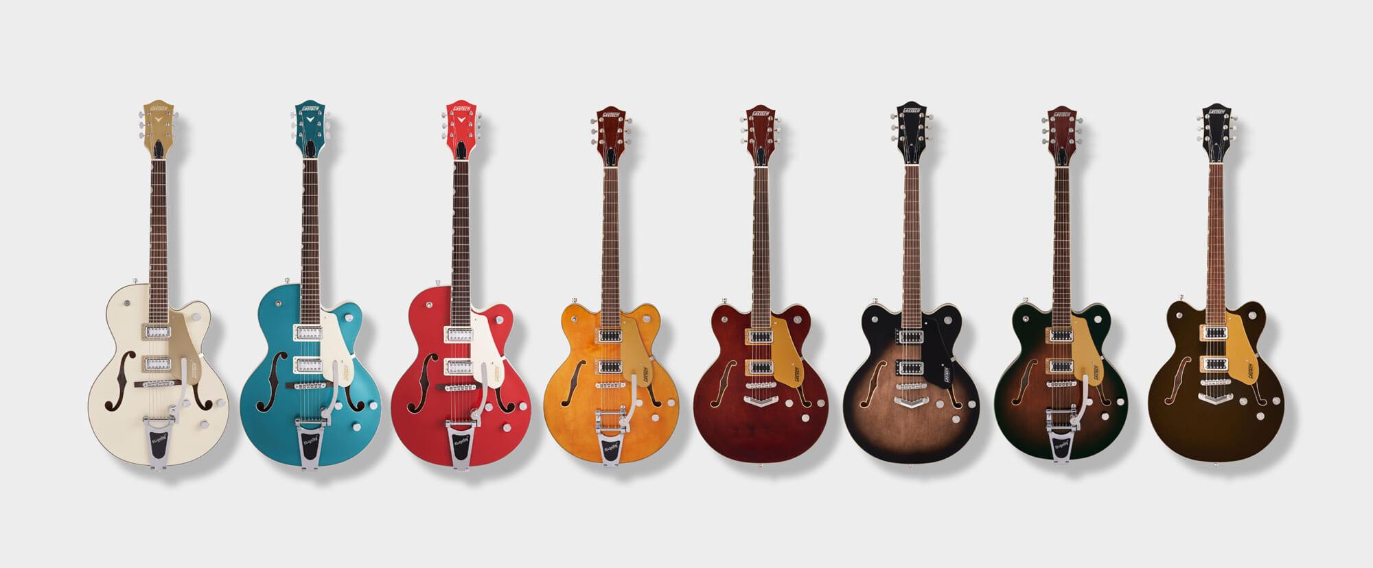 グレッチのホロウ・ボディ・ギターElectromatic Collectionの新製品8機種を紹介