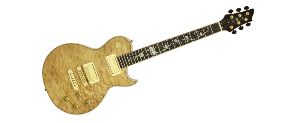 薔薇模様のインレイをあしらった美しいエレキ・ギターAria Pro II PE-780