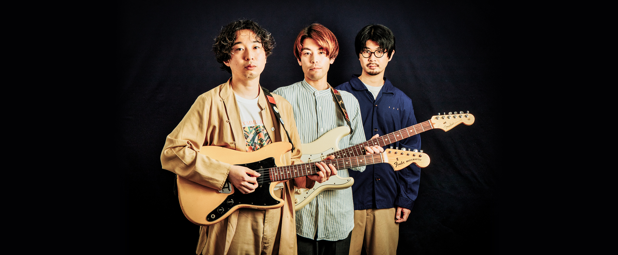 Interview 有馬嵩将&荏原優太郎(THE TREES)×菅原慎一元シャムキャッツのギタリストがプロデュース! きらびやかなギターポップ・バンドの魅力とは?