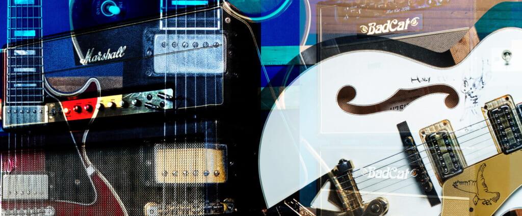 佐々木亮介&アオキテツ(a flood of circle)骨太なロック・サウンドを生み出す愛用機材