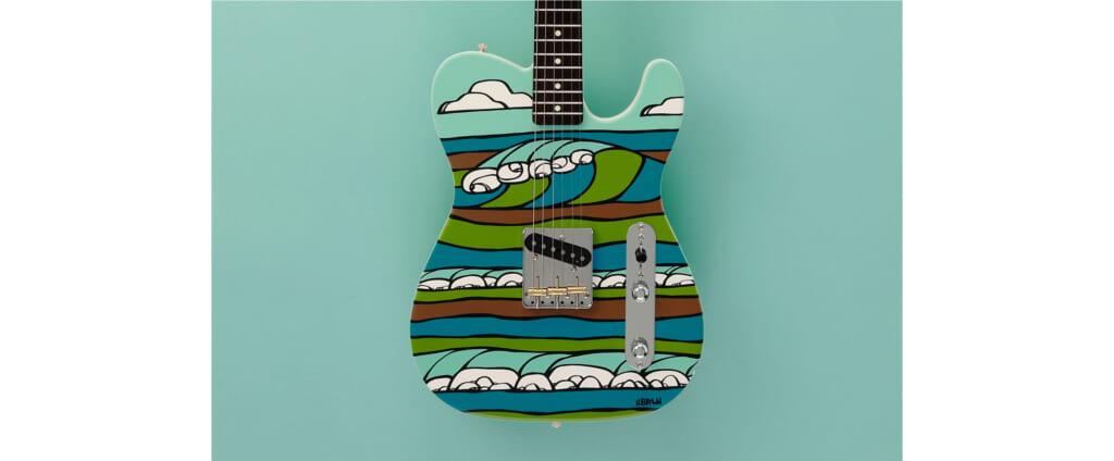 フェンダー、ヘザー・ブラウンのアートをまとったギターを15本限定で明日午前に販売スタート!