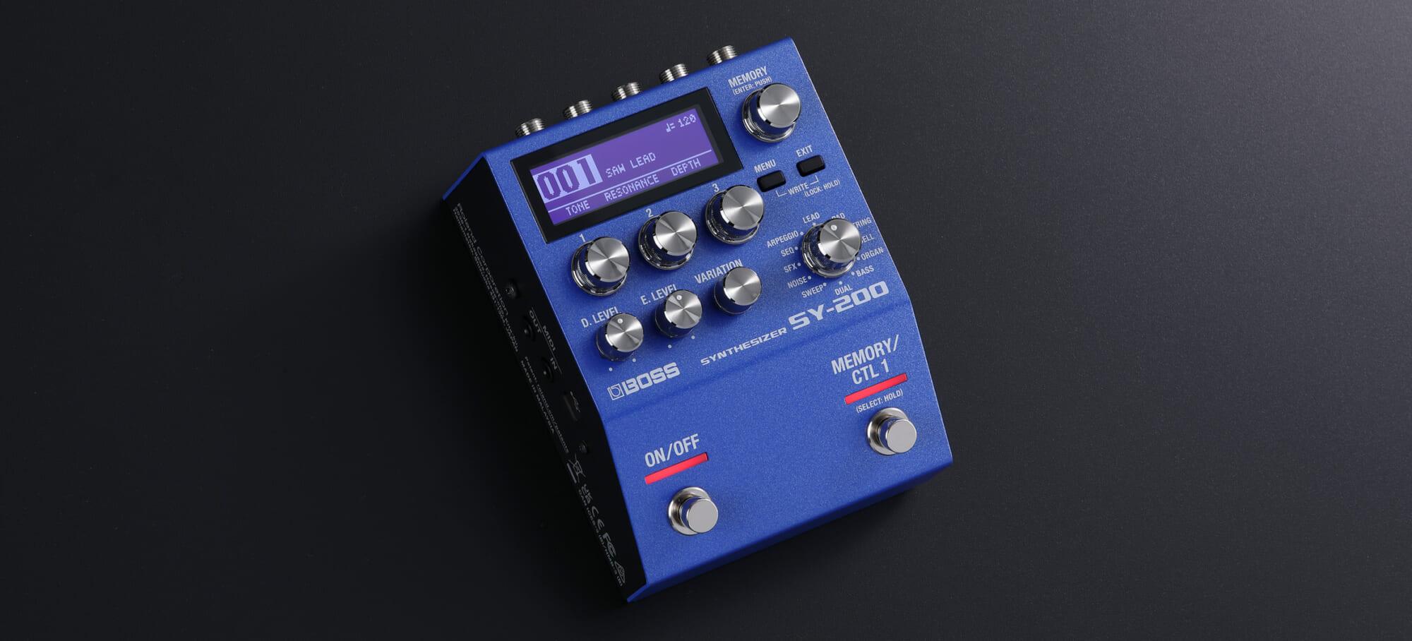 """シンセ・サウンドを多彩かつ自然に扱えるBOSSのギター用ペダル""""SY-200"""""""