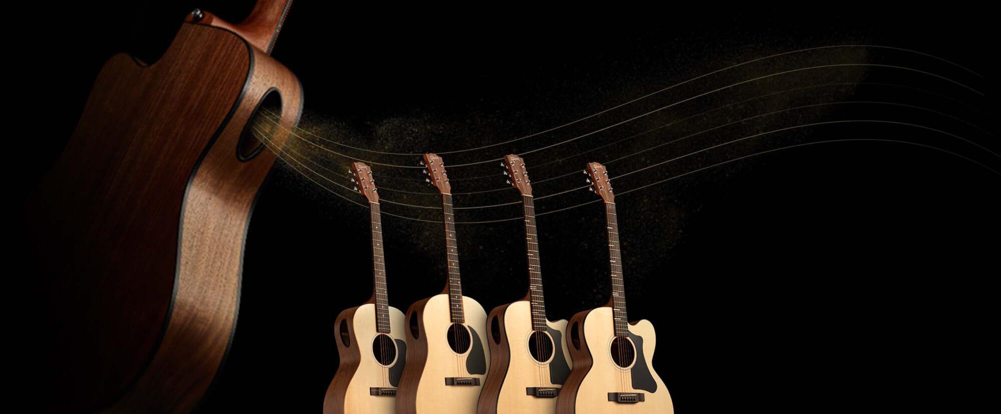 """ギブソン、ボディ・サイドに第2のサウンドホールを持つアコースティック・ギター、""""ジェネレーション・コレクション""""をリリース"""