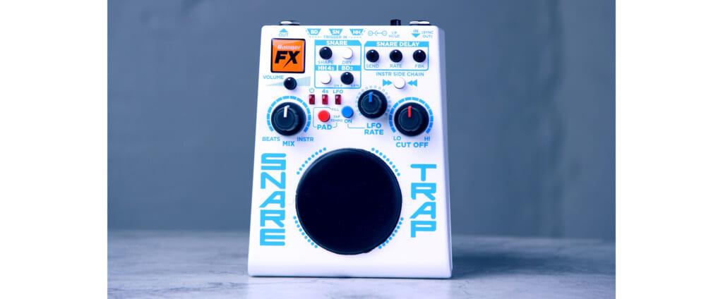 ペダルボードに組み込めて、ギタリストにも使いやすいRainger FXのドラム・マシン