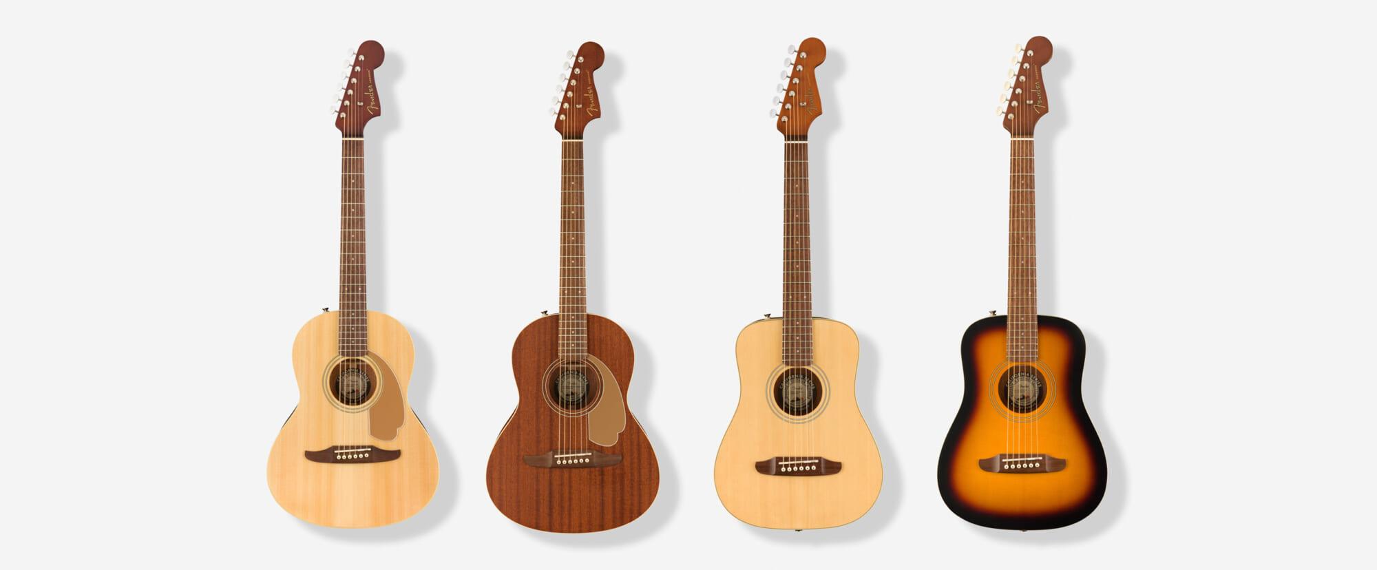 """フェンダーのミニ・サイズ・アコースティック・ギター""""California Miniシリーズ""""の国内販売が開始"""
